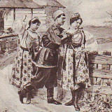 Carti Postale Romania pana la 1904, Circulata, Fotografie - Romania? carte postala austriaca UPU circulata 1902: Costume populare rusesti?