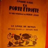 ANDRE GIDE - LA PORTE ETROITE - ed. 1934