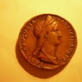 Copie -SESTERT ROMAN -IMP.SABINA /PIETAS -Mare Raritate! - Moneda Antica