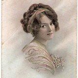 Fotografie - T FOTO 36 Romantica -Tanara -circulata 1914 -adresata lui I.Nedelcu, Plutonier Graniceri, Turtucaia, Port(Cadrilater) -Sarsaila