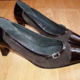 PANTOFI ORTOPEDICI Medicus ~ piele intoarsa/lac ~ mar. 40 - Pantof dama, Marime: 37.5, Fuchsia