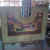 PAT DE TABLA PICTAT-1. - Mobilier, Paturi si seturi dormitor, 1900 - 1949