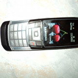 Telefon Samsung, Negru, Neblocat, Cu slide, 240x320 pixeli (QVGA) - Samsung D900i stare buna