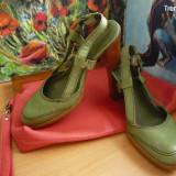 Pantofi dama, Marime: 36, Khaki - .PANTOFI MARC'O POLO