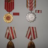 Medalii Romania - Lot de 4 medalii comuniste, stare foarte buna