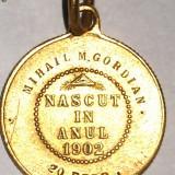 MEDALION BOTEZ ANUL 1902