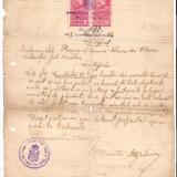 260 Document vechi fiscalizat-1927 -Certificat eliberat de Primar Nae Gheorghe al Comunei Florica, plasa Calmatui jud.Braila, pt.Constantin R.Tapu