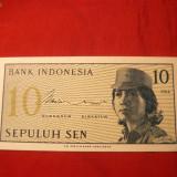 Bancnota 10 SEN 1964 INDONEZIA, cal.NC