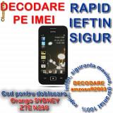 DECODARE ORANGE SYDNEY ZTE G n295 *** Online pe baza de IMEI *** Cod pentru deblocare *** Rapid, sigur, ieftin *** Decodare amzosoft2003 - Decodare telefon, Garantie
