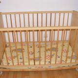 Pat copil de la 0 la 3 ani - Patut lemn pentru bebelusi