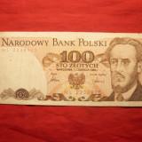 Bancnota 100 Zloti POLONIA, 1986, cal.medie