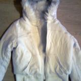 Geaca/hanorac alb cu blanita - Geaca dama