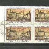 Romania 1974, TARG ANUAL LA SIBIU, bloc de 4 CU SUPRATIPAR stampilat - Timbre Romania