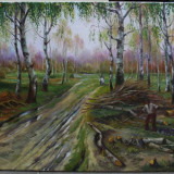 Peisaj. Ulei/panza - Pictor roman, Peisaje, Realism