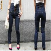 Jeans cu talie inalta foto