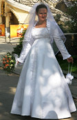 rochie mireasa, voal si bolero- si pt gravide foto