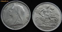 Moneda 1898 VICTORIA DEI GRA BRITT REGINA FID DEF IND IMP foto