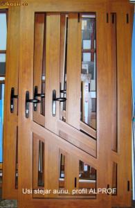usi de interior din aluminiu stejar auriu - Okazii (52514301)