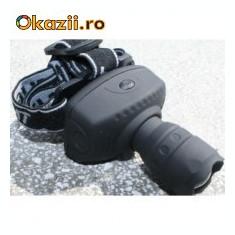 Lanterna Profesionala Frontala (de cap) cu LUPA si reglaj ZOOM