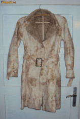Palton dama - Cojocel imblanit, foarte frumos, marimea S-M