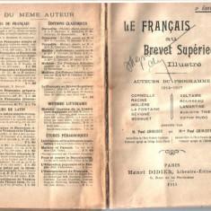 LE FRANCAIS AU BREVET SUPERIEUR