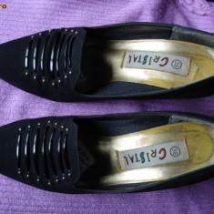 Pantofi dama - PANTOFI DIN FETRU NEGRU - MARIMEA 38