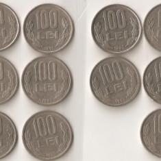 (MR10) MONEDA 100 LEI ; 16 MONEDE DIFERITE, COLECTIE RARA, PIESE CE POT INTRA IN COLECTII EXIGENTE; MONEDE, MONEZI, MONETE, - Moneda Romania