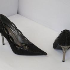 Pantofi pentru femei, negri, de gala - (Belle Woman 5837-2A black ) REDUCERE EXCEPTIONALA DE PRET - Pantof dama, Marime: 39, 40, 35, 41, Culoare: Negru, Negru