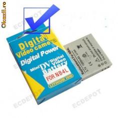Baterie Aparat foto - Baterie NB-4L compatibila Canon 1200mAh + expediere gratuita cu Posta -