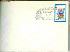 Timbru - Stampila speciala Protejati pasarile lumii, Timisoara 05.06.92, soim