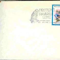 Stampila speciala Protejati pasarile lumii, Timisoara 05.06.92, soim