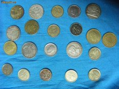 Monede Straine - MONEDA, SPANIA, PESETA, VECHI, 21 BUCATI