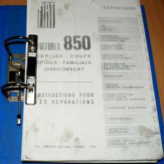 Manual de reparatii - Fiat 850 - toate modelele - in Franceza - Manual auto, Manual reparatie auto