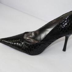 Pantofi negri, de gala - (CHIARA 8815-8 black ) - Pantof dama, Marime: 41, Culoare: Negru