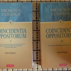 Nicolaus Cusanus Coincidentia Oppositorum ed. bilingva latina-romana 2volume Ed. Polirom 2008 - Carti bisericesti