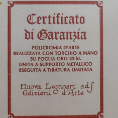 ICOANA ASSISI S FRANCESCO (foita aur) - Icoana cu foita de aur