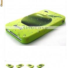 Husa Green Apple Iphone 4 expediere gratuita mar