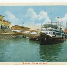 1915 - BRAILA - Nave in port - old postcard - unused