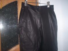 Pantaloni dama piele, Lungi, Fuchsia