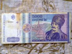 Bancnote Romanesti - Bancnote vechi 5 000 - 10 000 - 1 000 lei