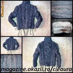 GEACA / PUFOAICA SCURTA FASHION de DAMA firma MAXMARA, INCRETITA, CULOARE GRI SOBOLAN - Geaca dama La Perla, Camel, Poliester