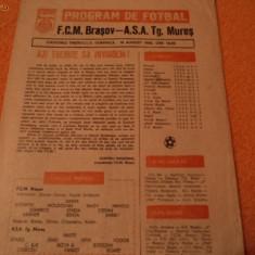 Program meci - Program fotbal FCM BRASOV - ASA TG. MURES 18.08.1985