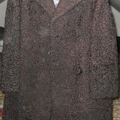 Palton dama, Fuchsia, Blana - Haina blana astrahan pana la genunchi