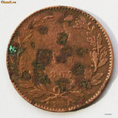 ROMANIA 5 BANI 1867 WATT & CO 1 ** - Moneda Romania