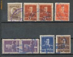Timbre Romania - RFL 1945 ROMANIA lot 8 timbre Mihai I cu stampile bilingve romano-maghiare Tg. Mures