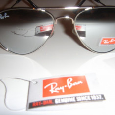 Ochelari de soare RAY BAN AVIATOR 3025 SILVER FRAME - MIRROR LENS !!! super PRET SUPER OFERTA, Unisex, Negru, Pilot, Metal, Polarizare