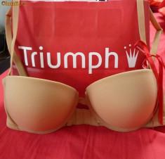 Sutien Triumph, Push up, Argintiu, Marime sutien: 80, B