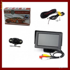 Camera video auto - Sistem de parcare auto cu monitor LCD 4.3 Inch si camera video, GARANTIE, livrare gratuita.