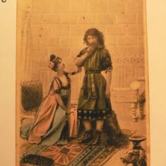 LITOGRAFIE - SAMSON SI DALILA - SUSPICIUNEA - EDITURA FORTUNA BUCURESCI