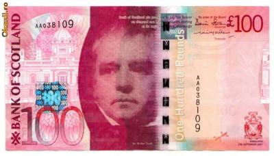 Scotia - 100 pounds (lire) 2007 - Bank of Scotland foto